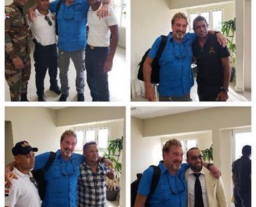 Джон Макафи, освобожден после задержания в Доминиканской Республике